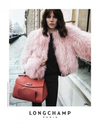 Freja Beha Erichsen podzimní kampaň Longchamp Fall 2017, Longchamp