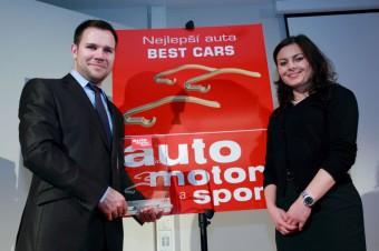 Za dovozce vozů Audi převzali cenu Best cars Pavla Vokrouhlíková a Ondřej Tošovský. Menhouse.eu