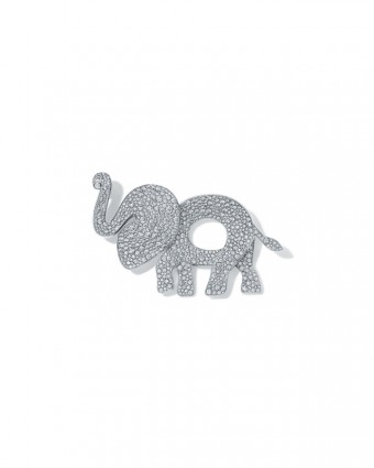 Tiffany Save the Wild elephant brooch in 18k white gold with pave diamonds, photo Credit: Tiffany & Co.