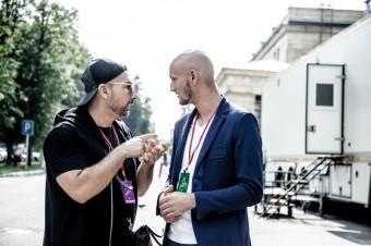 Ladislav Bubnár s manažerem Alexem Vernikem před soutěží