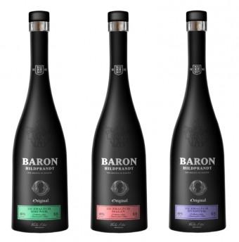 Ovocné speciality Barona Hildprandta ze zralých hrušek, malin a švestek, Premier Wines & Spirits