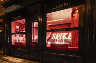 VALENTINO I LOVE SPIKE Pop Up, images at Hotel Costes, credit: Valentino
