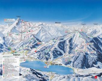 Mapa střediska; Foto: Gletscherbahnen Kaprun AG