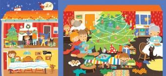 Vánoce v Česku; ilustrace z knížky Karoliny Medkové Vánoce z celého světa, kterou ilustrovala Mária Nerádová, foto kredit: Muzeum hlavního města Prahy
