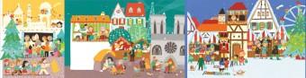 Vánoce ve Francii; ilustrace z knížky Karoliny Medkové Vánoce z celého světa, kterou ilustrovala Mária Nerádová, foto kredit: Muzeum hlavního města Prahy