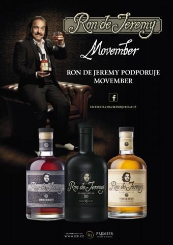 Rum Ron de Jeremy podporuje aktivitu Movember, Premier Wines & Spirits