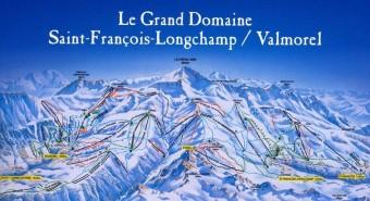 Mapa střediska Saint Francois, foto: Beta tour