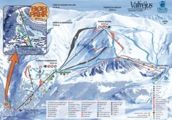 Mapa střediska, foto zdroj: www.valfrejus.com