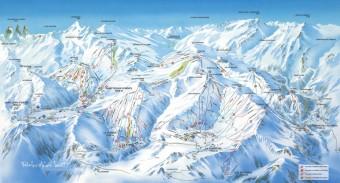 Mapa střediska Les Sybelles, foto zdroj: Beta tour