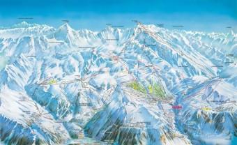 Mapa střediska Alpe d´Huez - Auris, foto: Beta tour