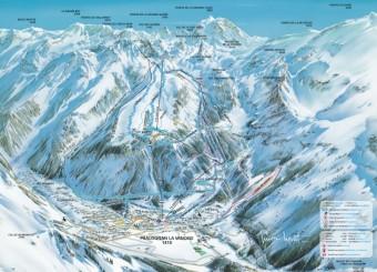 Mapa střediska Pralognan, foto: Beta tour