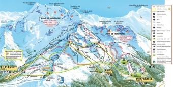 Mapa střediska Les 7 Laux