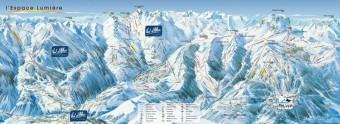 Mapa střediska Val d´Allos