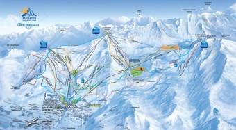 Mapa střediska Orciéres Merlette