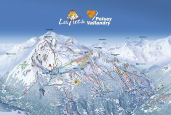 Mapa střediska Les Arcs