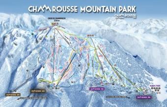 Mapa střediska Chamrousse