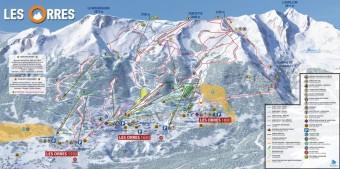 Mapa střediska Les Orres