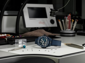 Big Bang Meca-10 Blue Ceramic, HUBLOT