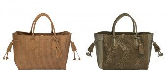Longchamp Pénélope honey & khaki