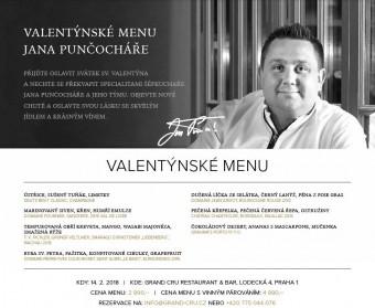Valentýnské menu v restauraci Grand Cru
