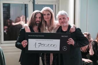 Petr Matějček, Tereza Maxová a Lukáš Loskot, Mercedes-Benz Prague Fashion Week