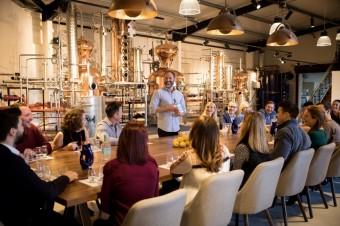 Tasting table on tour Hayman's Gin, foto kredit: Premier Wines & Spirits