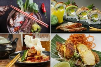 Pho Bo, Dancing EEL úhoř, Kerala Chicken a Chicken Rendang, Café Buddha
