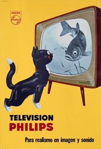 Van Neg, Televisie, reclameposter, Jan Wijga, 1961, foto kredit: TP Vision