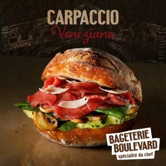 Limitovaná edice Carpaccio Veneziano, Spécialité Du Chef Bageterie Boulevard