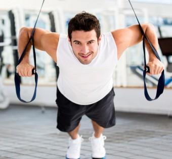 Posilování váhou svého těla.