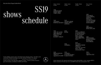 Program zářijové edice Mercedes-Benz Prague Fashion Weeku