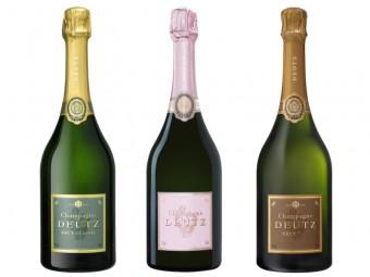 Champagne Deutz Brut Classic, Champagne Deutz Brut Rosé a Champagne Deutz Brut Millesime 2009, foto: Premier Wines & Spirits