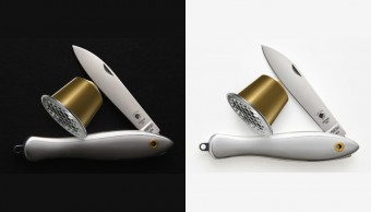 Limitovaná edice kapesního nože Rybička z recyklovaných hliníkových Nespresso vyrobená firmou Mikov