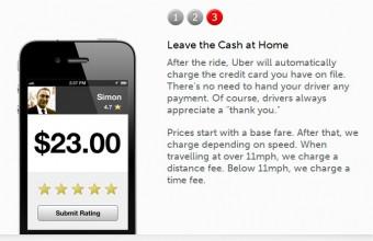 Aplikace Uber na odvoz autem