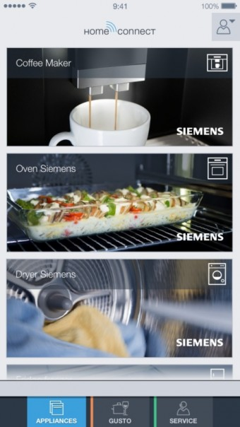 Aplikace Home Connect, Siemensv