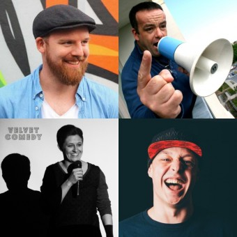 Richie Bree, John Colleary, Katie Anderson a Grant Gallagher, Velvet Comedy Show, Tour sv. Patrika 2019, zdroj: JAMESON