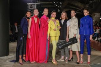 Vítěz soutěže pro začínající módní návrháře VAN GRAAF Junior Talent 2019 Boris Kráľ, Mercedes- Benz Prague Fashion Week