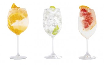 Triple orange gin & tonic, bezinkový gin & tonic a Opihr Oriental gin & tonic
