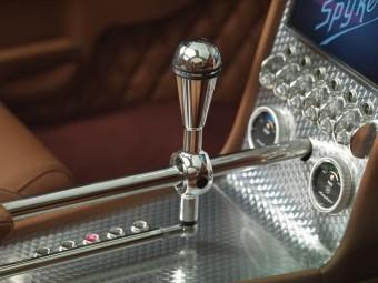 Středový panel s řadicí pákou v hliníku, Spyker B6 Venator