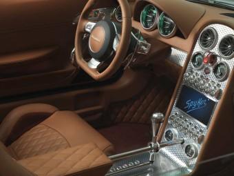 Luxusní interiér Spyker B6 Venator