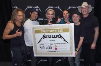 Women for Women a Metallica, předávání šeku
