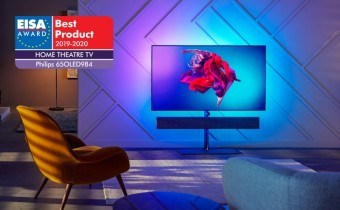 Model Philips OLED+984 TV se stal Home Theatre TV roku