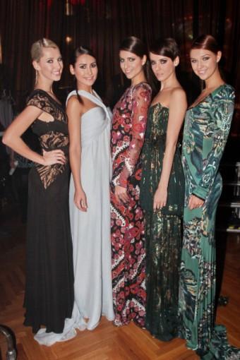 Česká Miss 2013 Gábina Kratochvílová na módní přehlídce