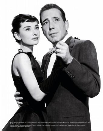 Audrey Hepburn a Humphrey Bogart