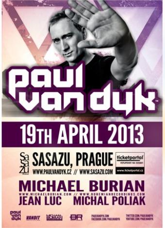 Paul van Dyk vystoupí 19.dubna v Praze