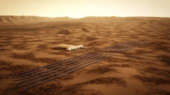 Osídlení Marsu - credit: Bryan Versteeg- Mars One
