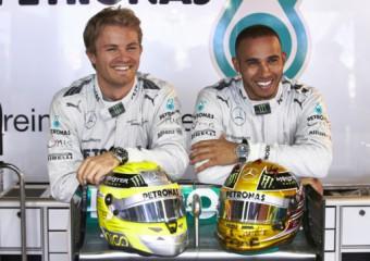 Lewis Hamilton a Nico Rosberg