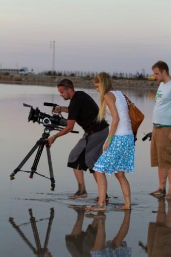 Natáčení nového klipu v poušti