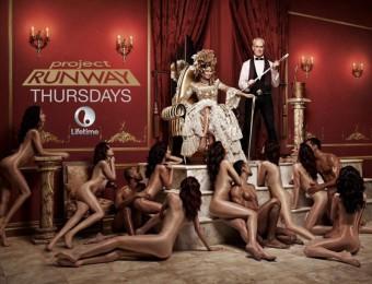 Twitter - Heidi Klum, reklamní plakát na televizní soutěž Runway