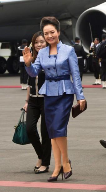 První dáma Číny, foto: IVAN SEKRETAREV/A.P. IMAGES.